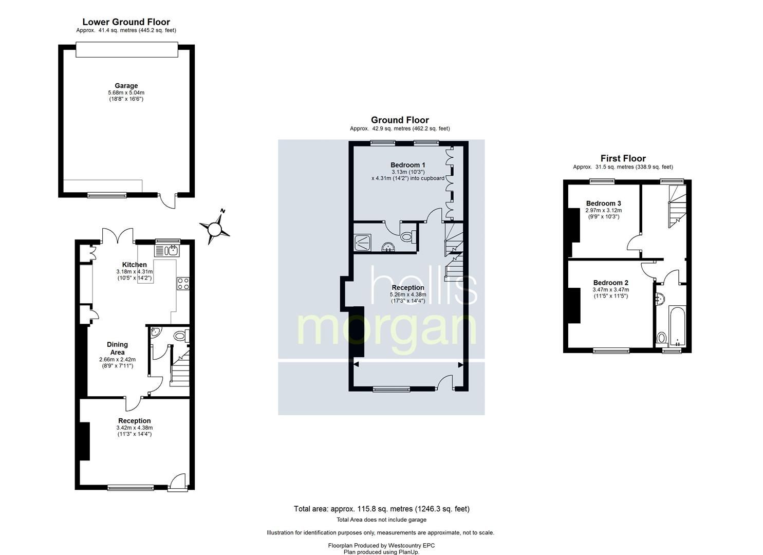 Floorplans For Worrall Road, Clifton