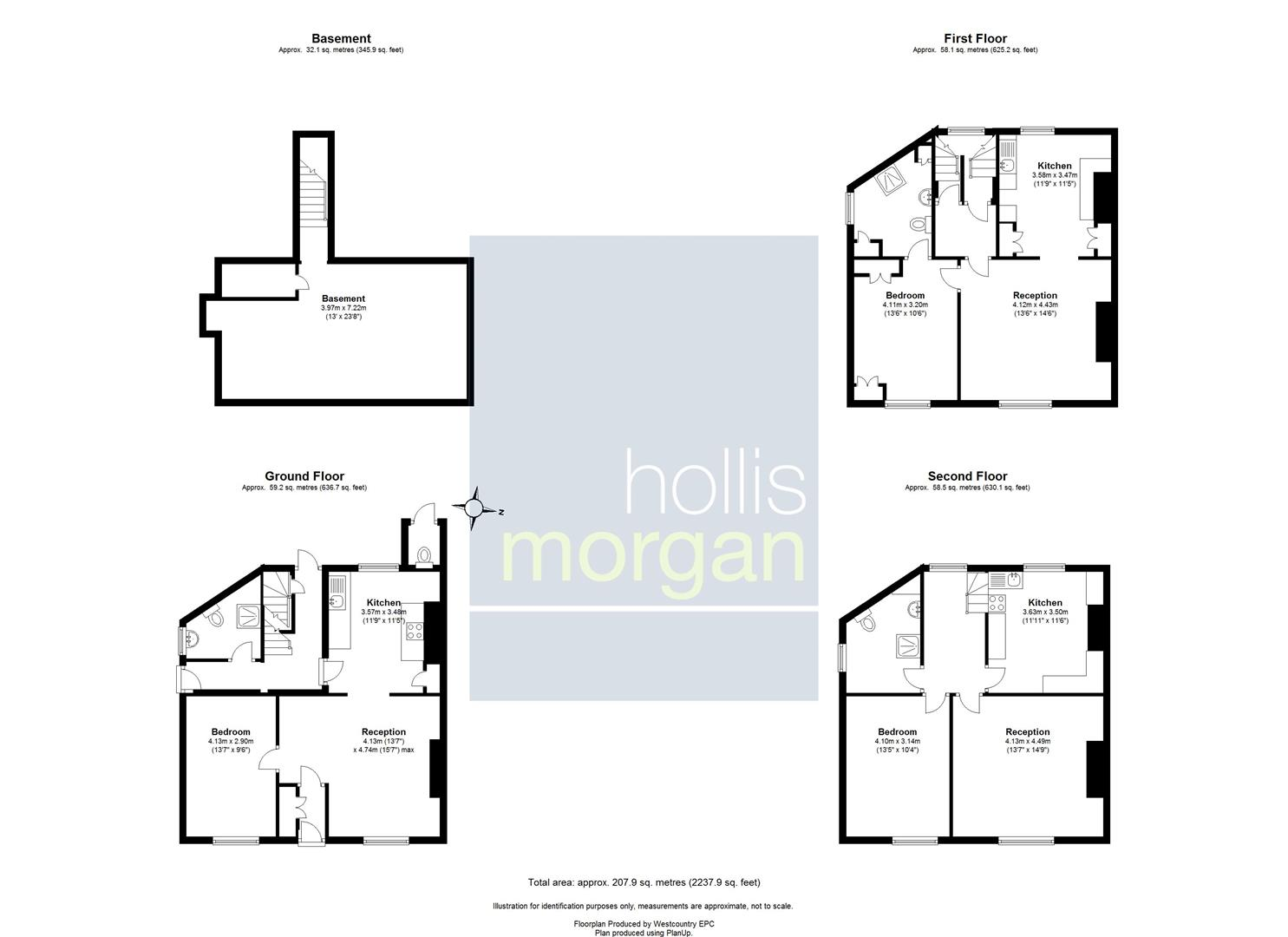 Floorplans For 59 Jacobs Wells Road, Hotwells