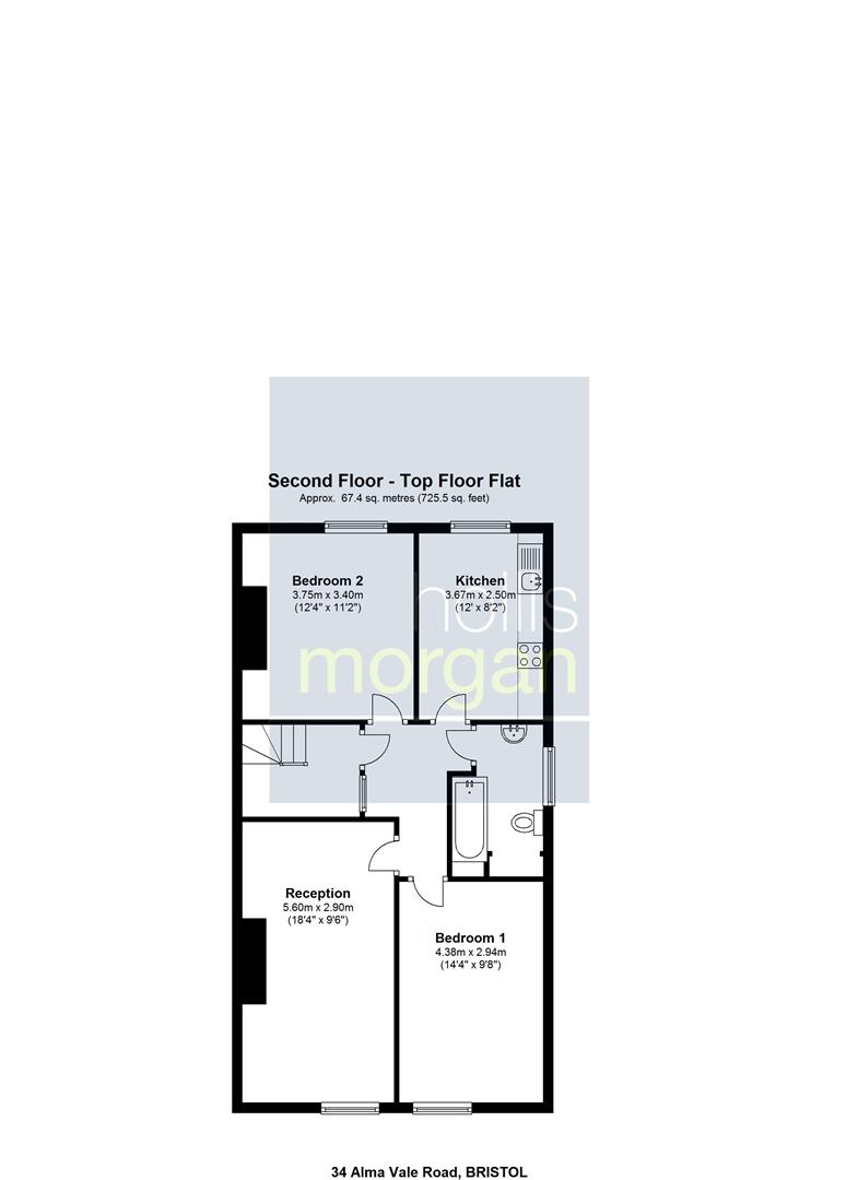 Floorplans For Alma Vale Road, Clifton, Bristol