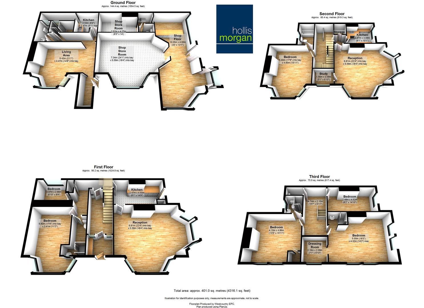 Floorplans For 2 Victoria Square, Weston-Super-Mare