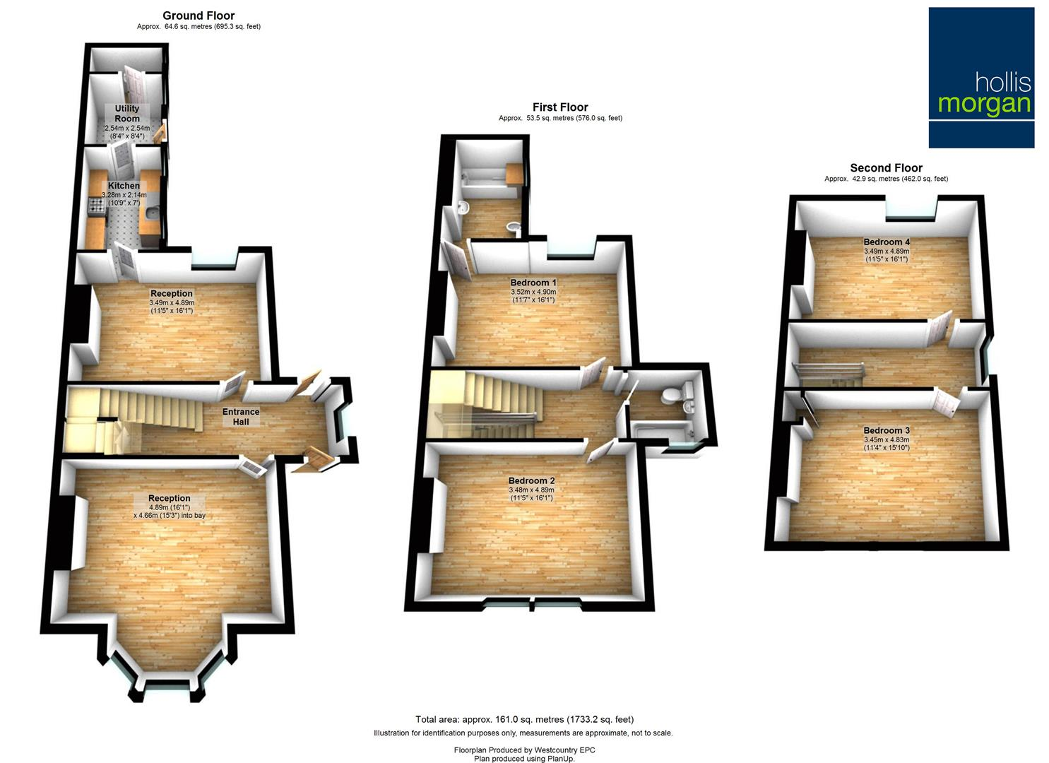 Floorplans For Cotham Brow, Bristol