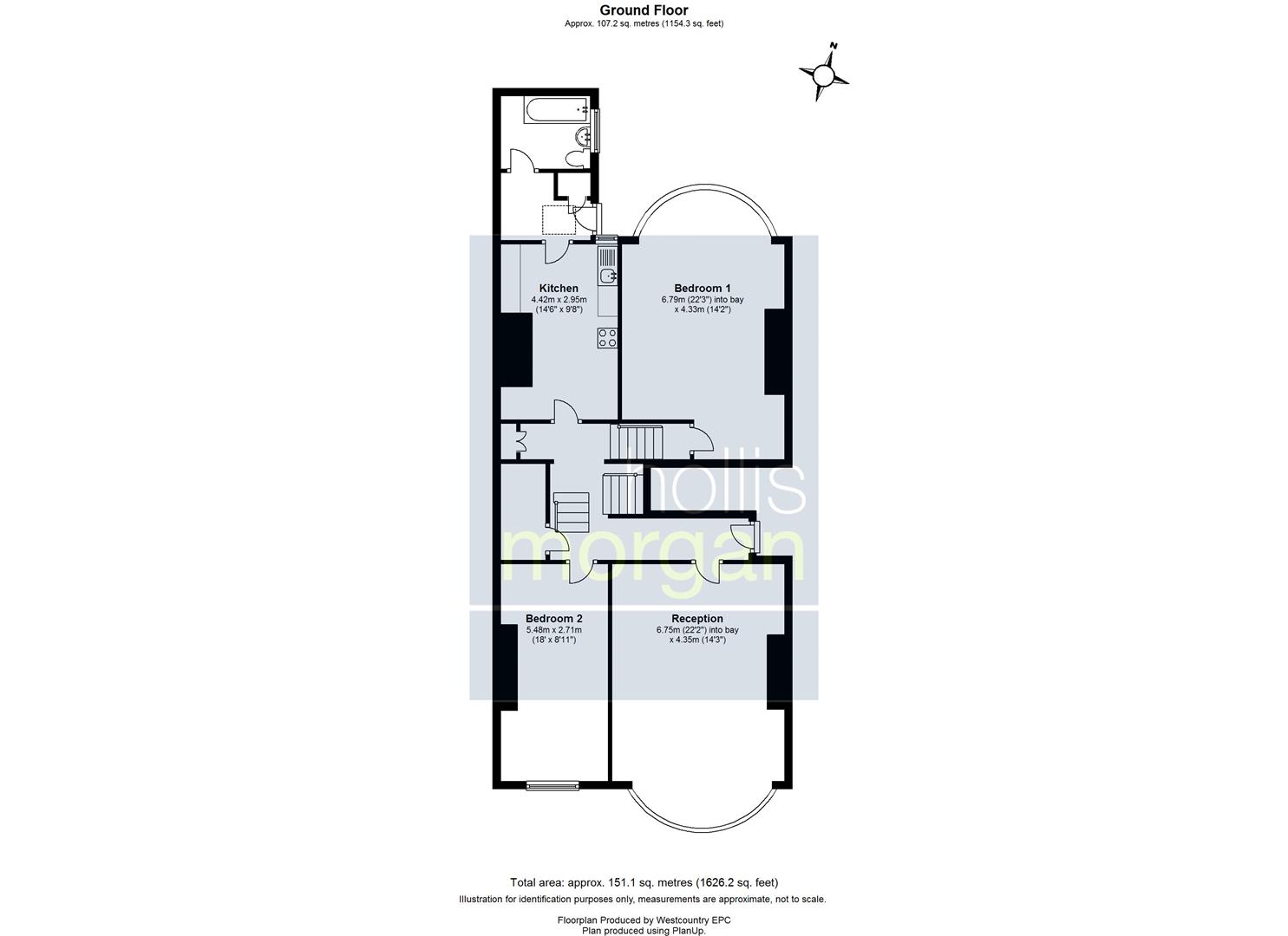 Floorplans For Whatley Road, Clifton, Bristol