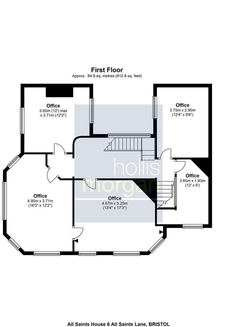 Floorplans For All Saints House, 6 All Saints Lane, City Centre, Bristol