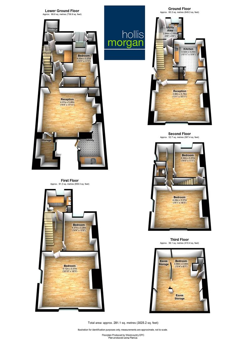 Floorplans For 5 Gordon Road, Clifton, Bristol