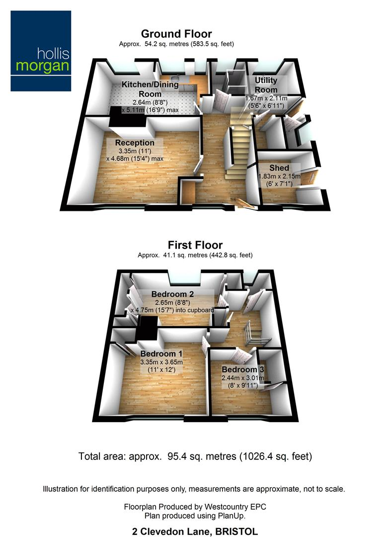 Floorplans For 2 Clevedon Lane, Clapton In Gordano, Bristol