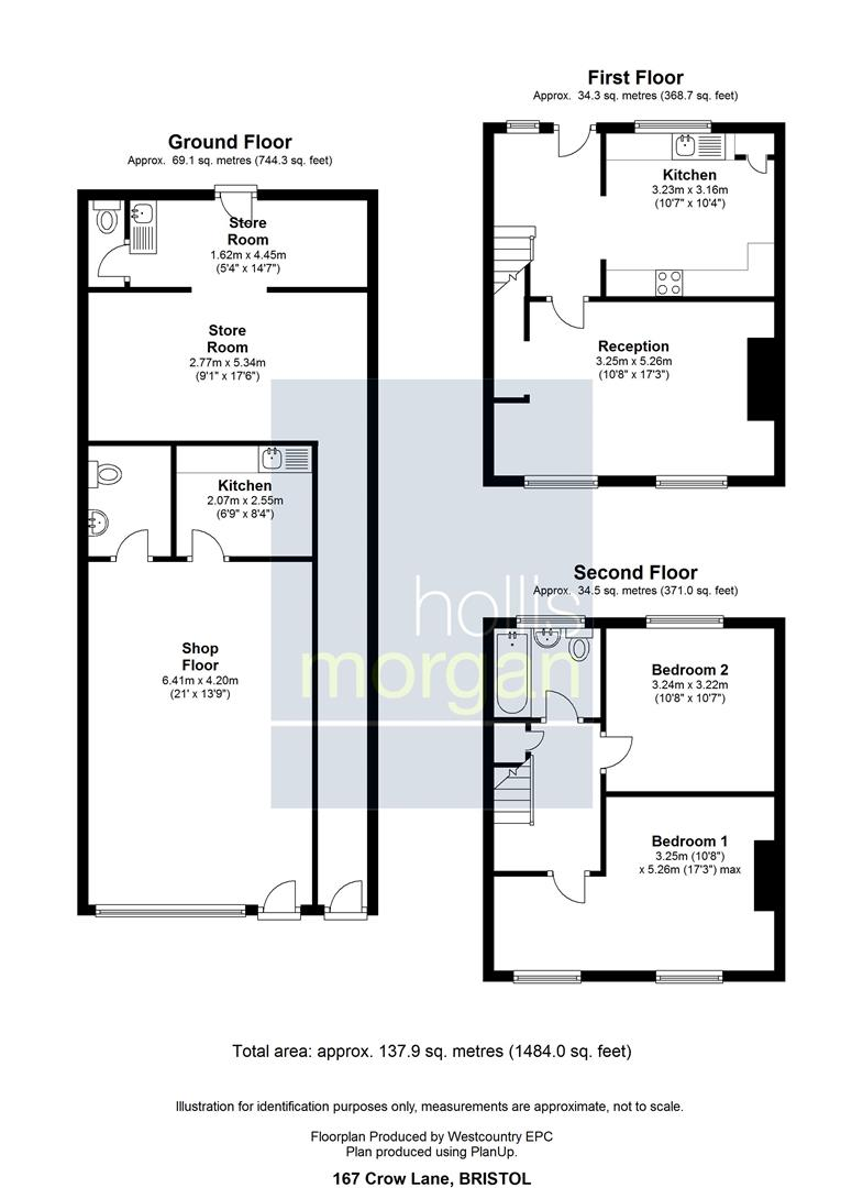 Floorplans For Mixed Use Investment @ 167 Crow Lane, Henbury, Bristol
