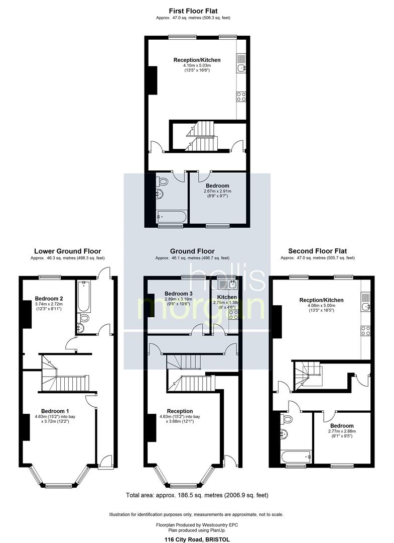 Floorplans For 116 City Road, St. Pauls, Bristol