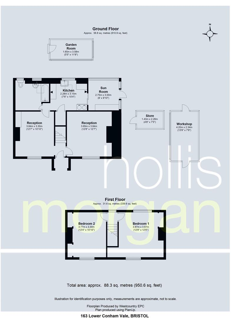 Floorplans For Lambarene Cottage, Lower Conham Vale, Hanham, Bristol