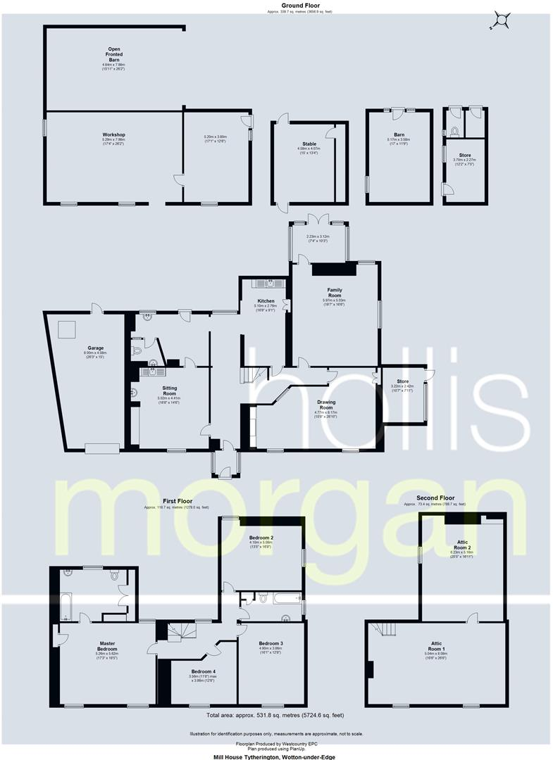 Floorplans For Duck Street, Tytherington, Wotton-Under-Edge