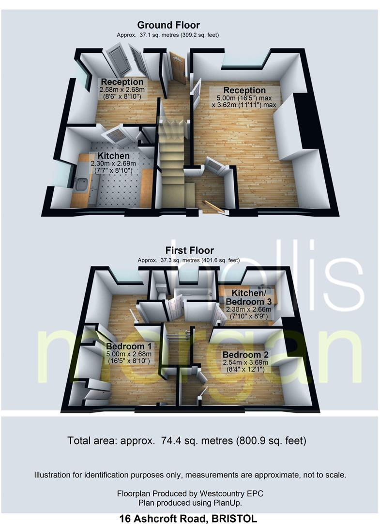Floorplans For *** REDUCED PRICE *** 16 Ashcroft Road, Sea Mills, Bristol