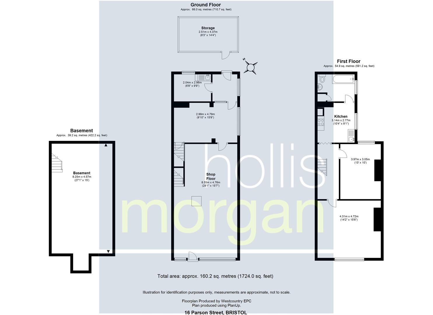 Floorplans For 16 Parson Street, Bristol