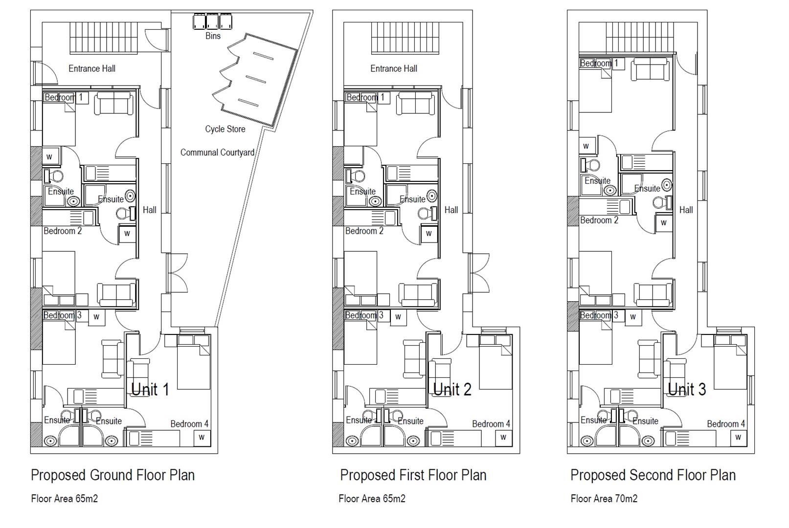 Floorplans For The Old Bakery, Bell Hill Road, St George