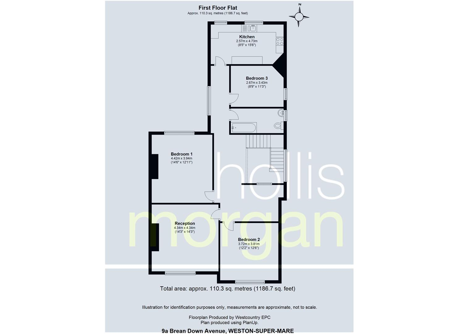 Floorplans For Huge First Floor Flat with Garden and Double Garage