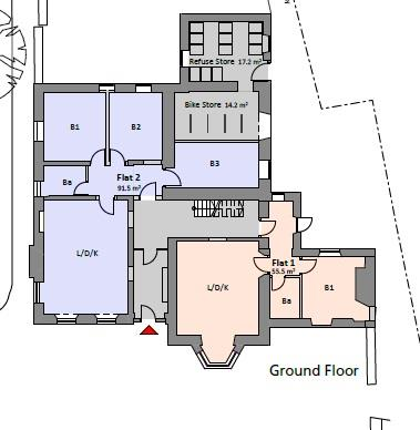 Floorplans For CONYGRE HOUSE - PLANNING GRANTED - FLAT CONVERSION