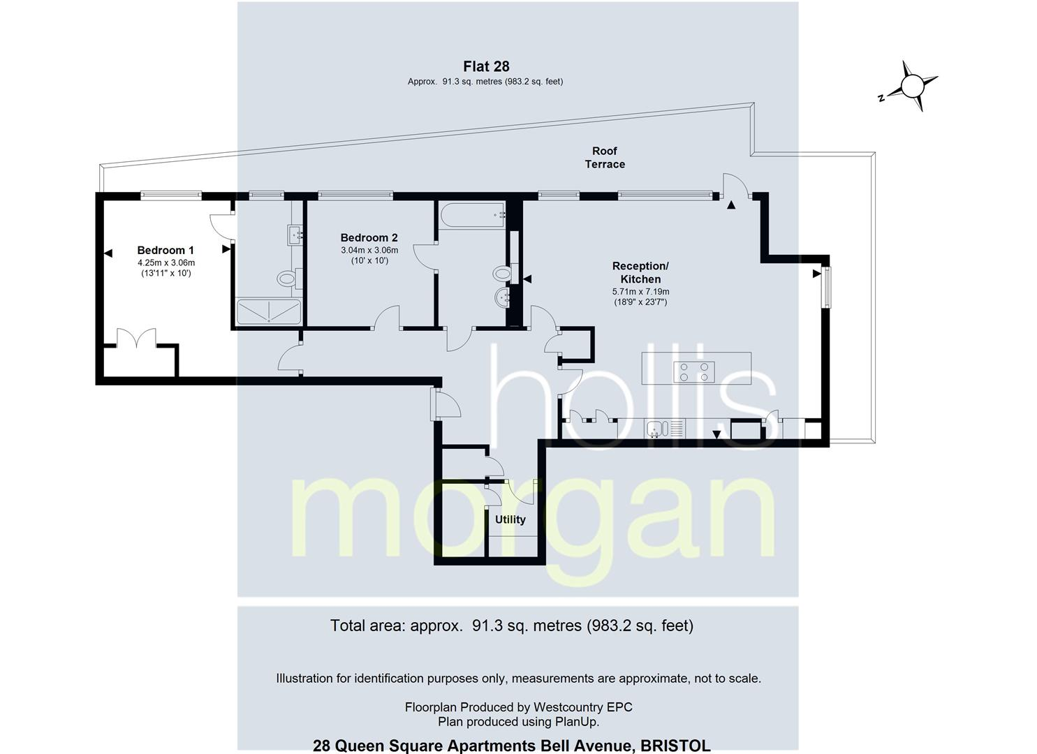 Floorplans For Queens Square Apartments, Redcliffe Backs