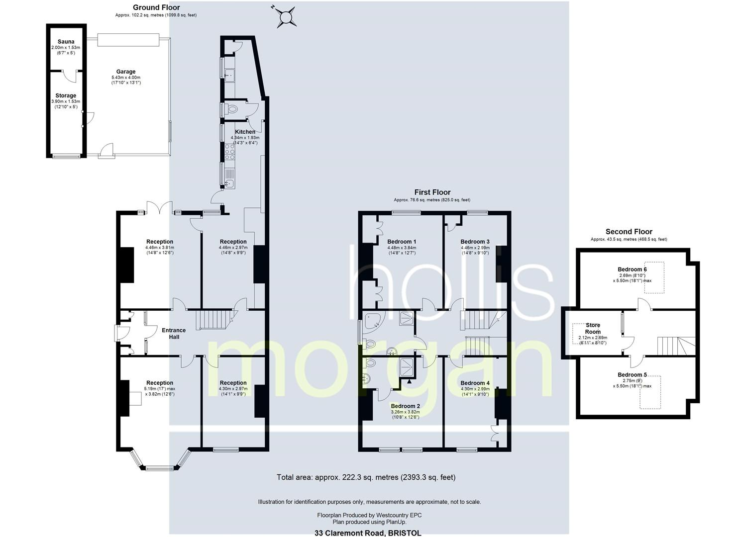 Floorplans For Claremont Road, Bishopston