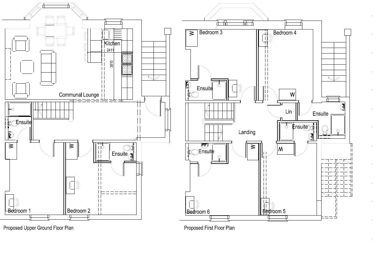 Floorplans For PLANNING GRANTED 6 BED HMO