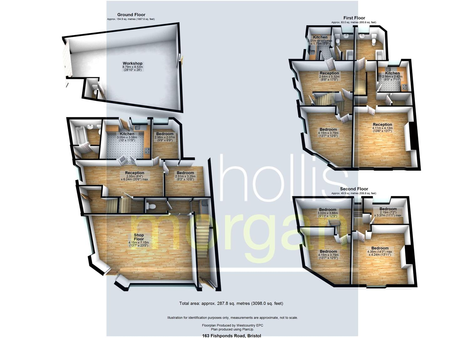 Floorplans For FREEHOLD BLOCK OF FLATS + RETAIL + WORKSHOP