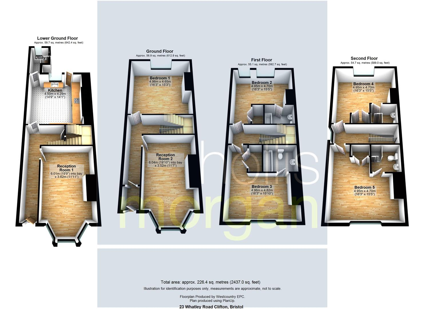 Floorplans For CLIFTON TOWNHOUSE / HMO FOR BASIC UPDATING