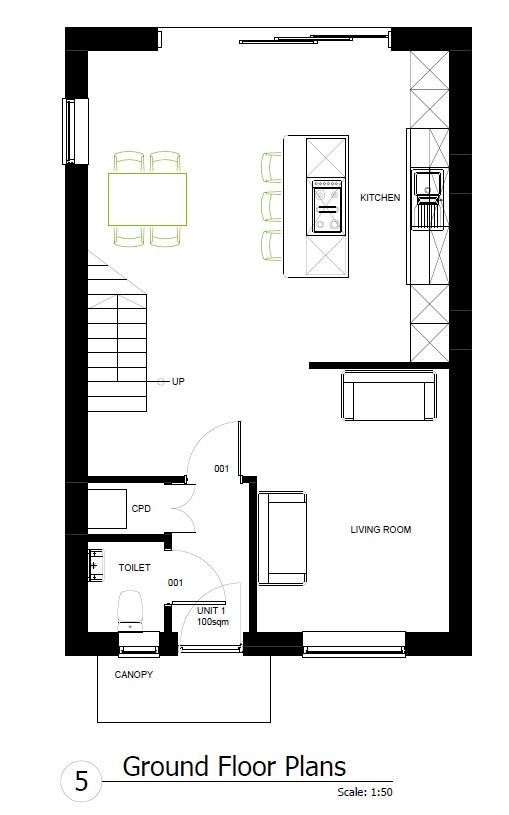 Floorplans For PLANNING GRANTED - 3 X 3 BED HOUSES