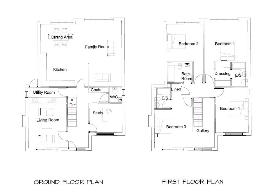 Floorplans For PLANNING GRANTED - DETACHED HOUSE
