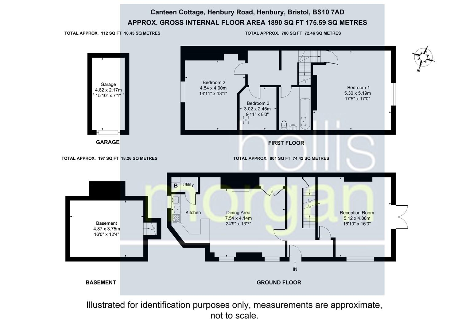 Floorplans For Canteen Cottage, Blaise