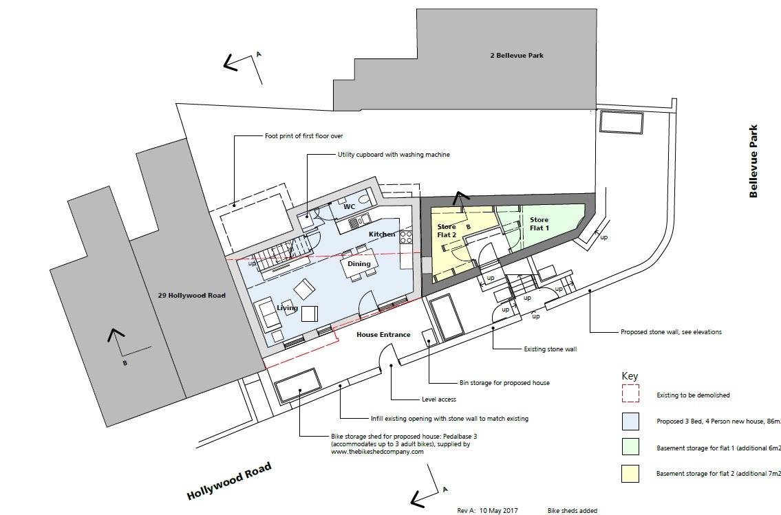 Floorplans For PLANNING GRANTED - 3 BED HOUSE