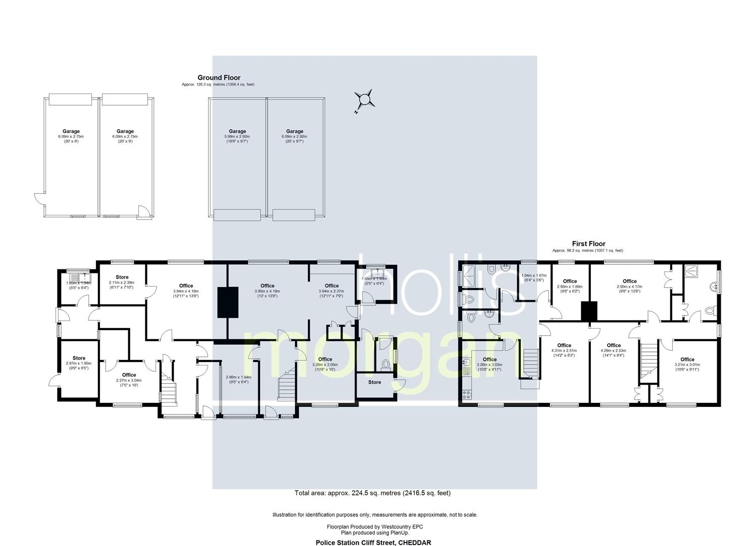 Floorplans For PLANNING GRANTED - 2 X SEMI DETACHED HOUSES