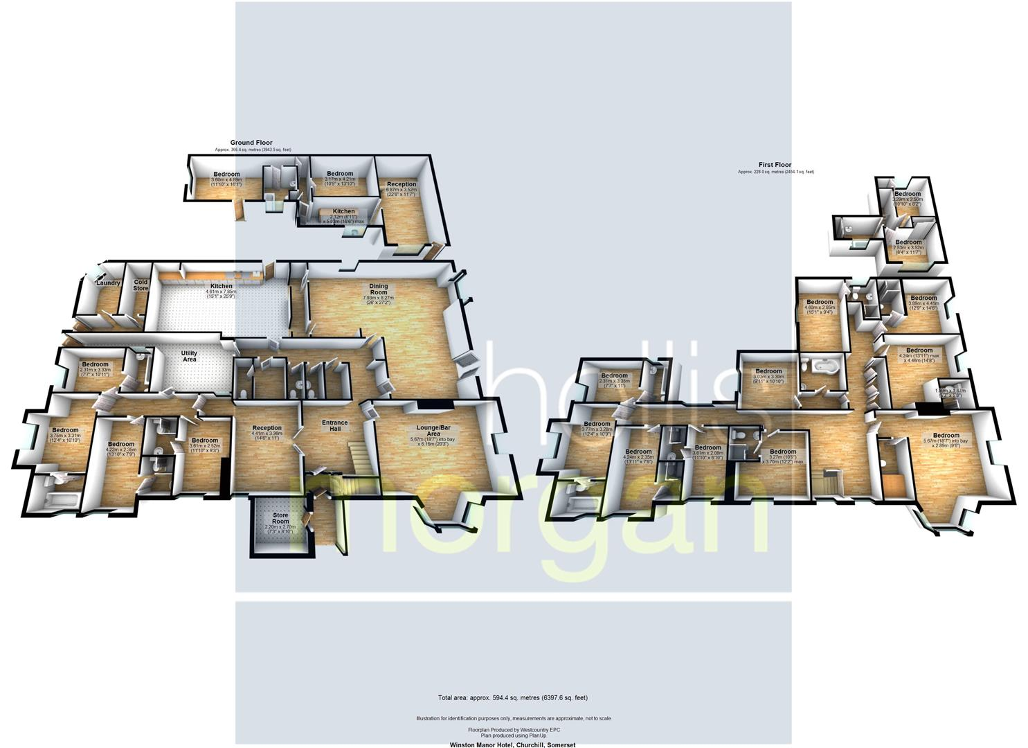 Floorplans For HOTEL + COTTAGE + LAND - HUGE POTENTIAL