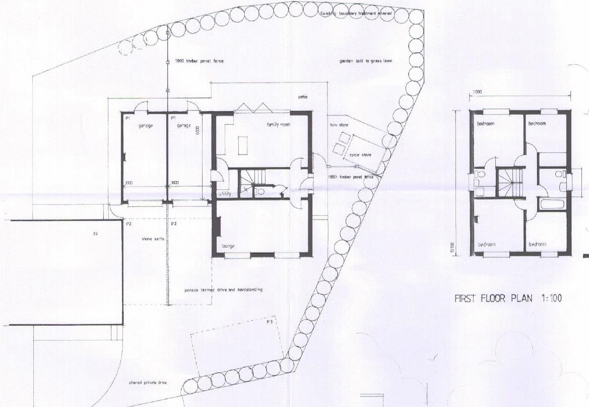 Floorplans For BUILDING PLOT - PLANNING GRANTED