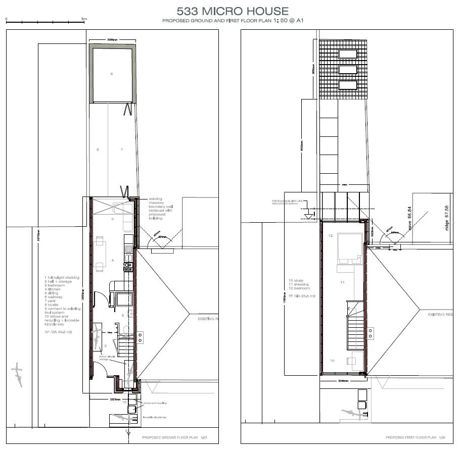 Floorplans For MICRO HOUSE - PLANNING GRANTED