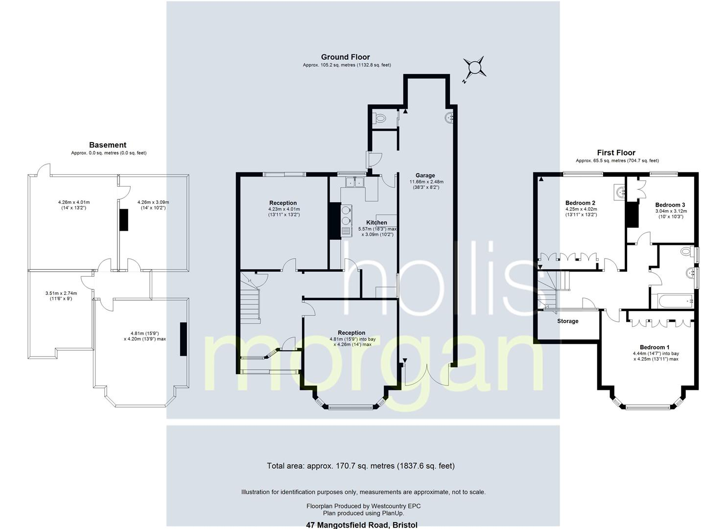 Floorplans For FAMILY HOME FOR UPDATING - LARGE GARDEN