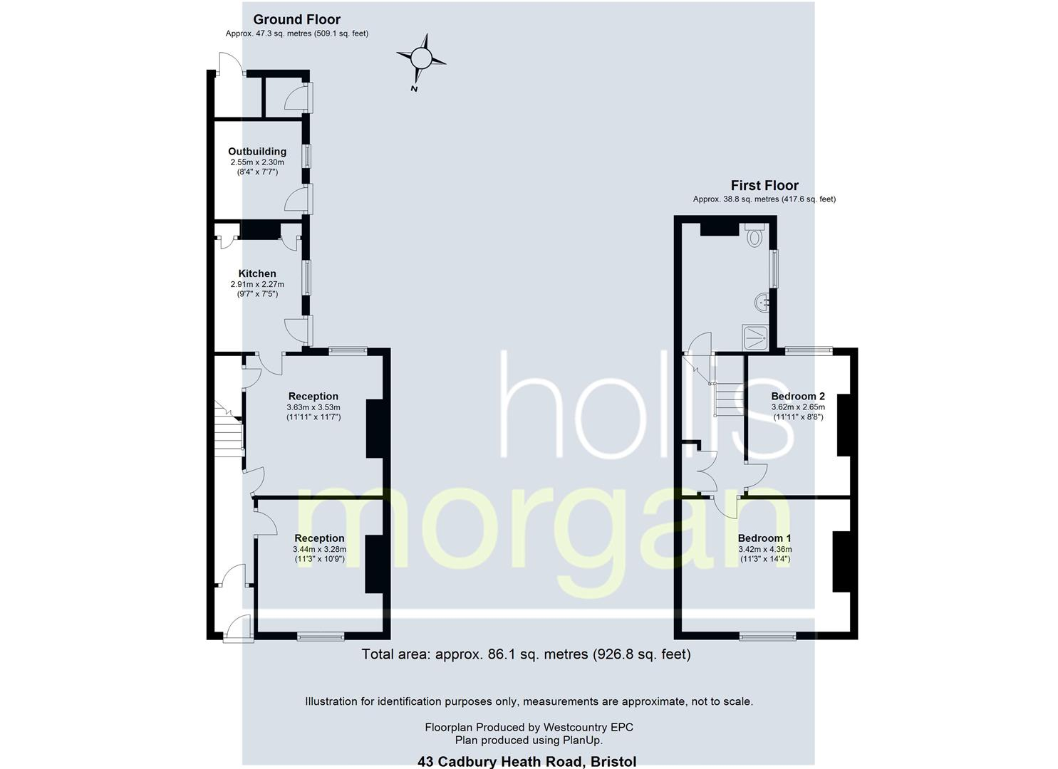 Floorplans For COTTAGE FOR MODERNISATION - LARGE GARDEN