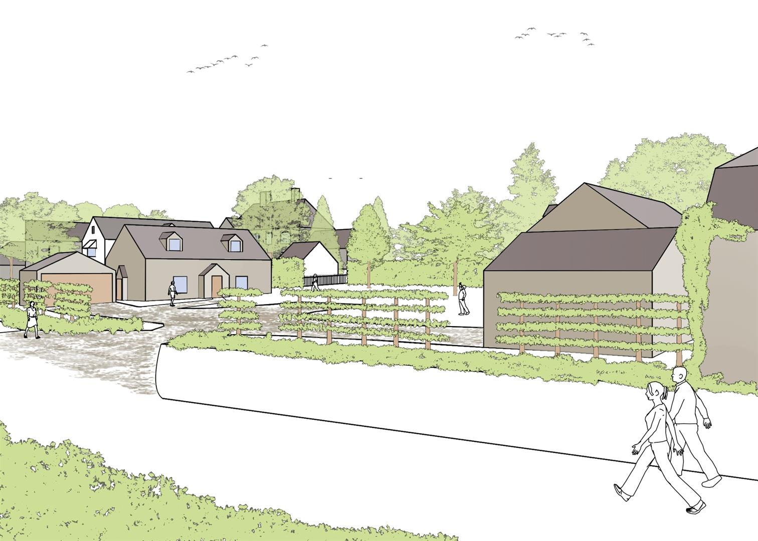 Floorplans For PLANNING GRANTED - 2 DETACHED HOUSES