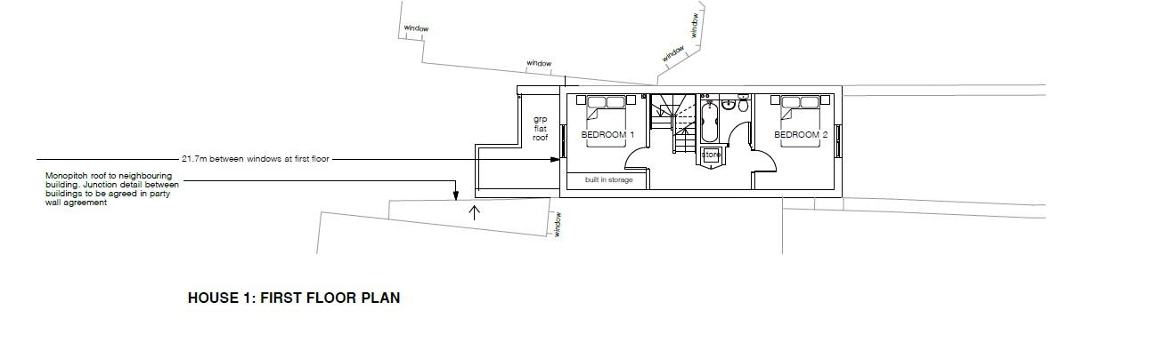 Floorplans For PP GRANTED - 2 HOUSES - GDV £575K