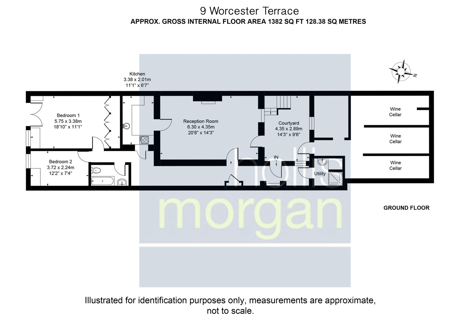 Floorplans For Worcester Terrace, Clifton