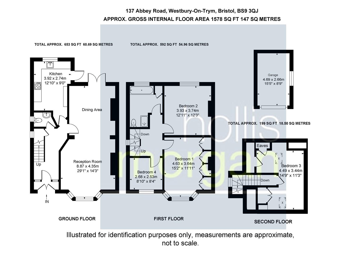 Floorplans For Abbey Road, Westbury-On-Trym