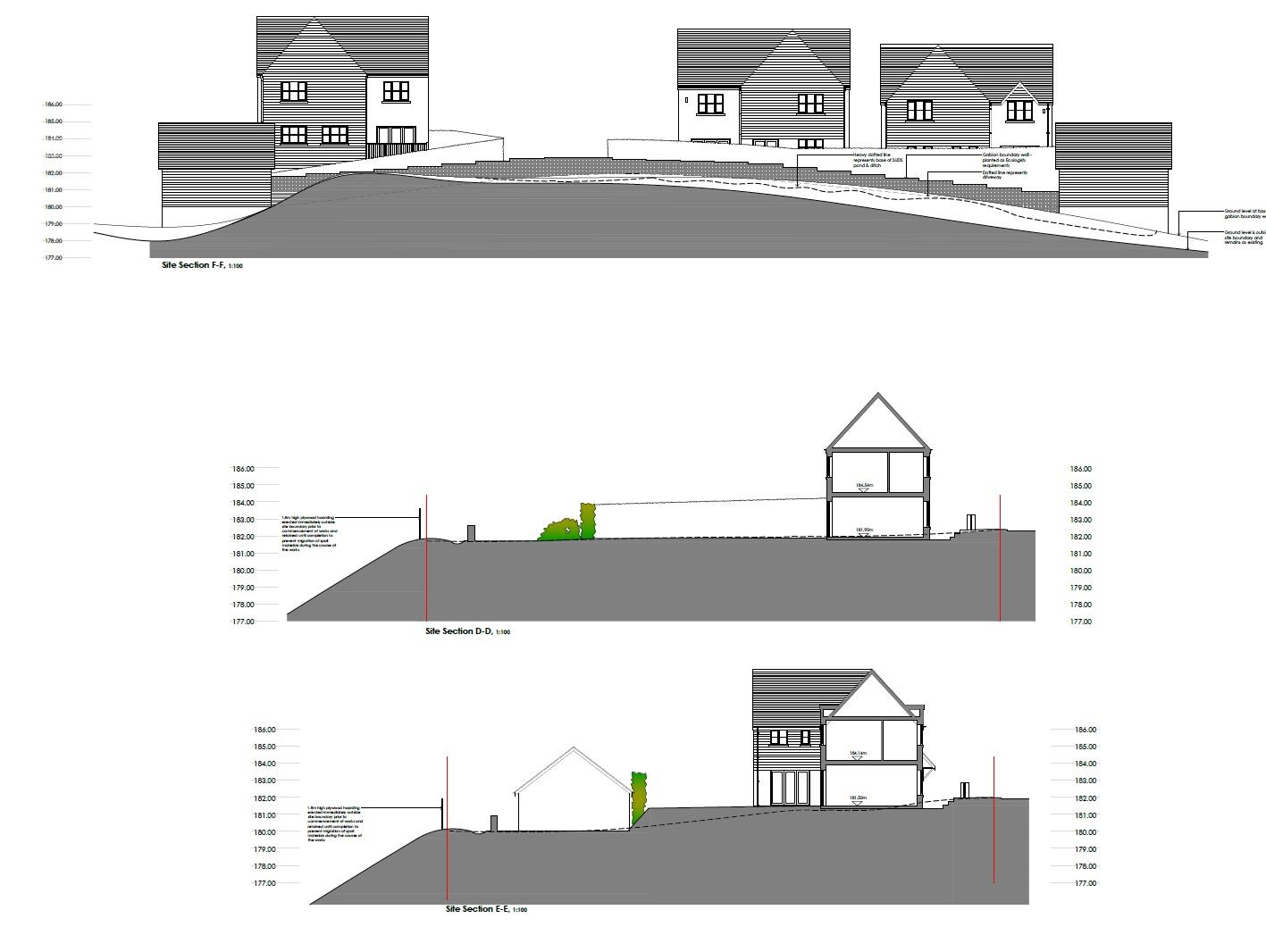 Floorplans For PLANNING GRANTED 3 HOUSES + COTTAGE FOR UDPATING