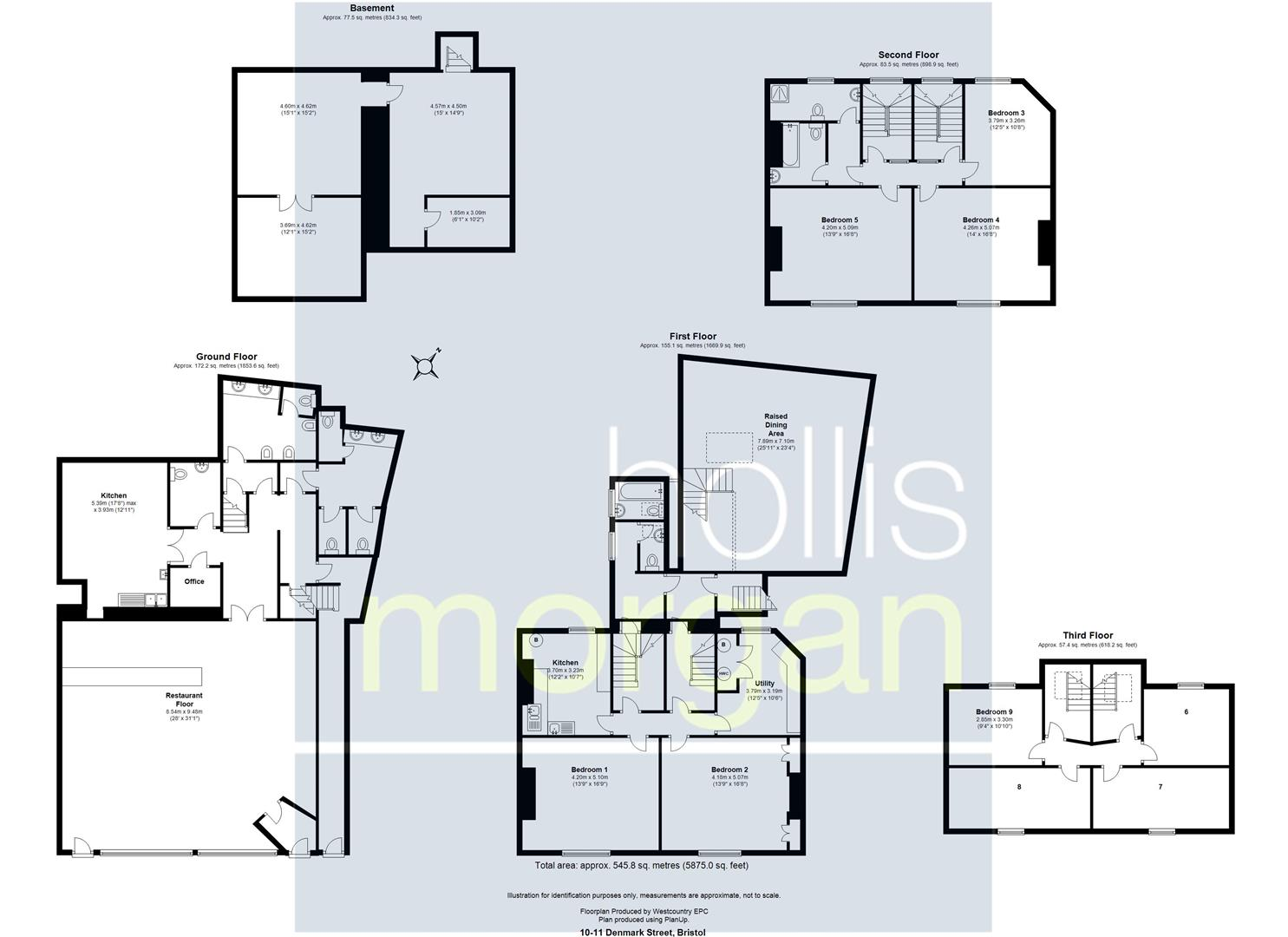 Floorplans For MIXED USE / 9 BED HMO - DENMARK STREET
