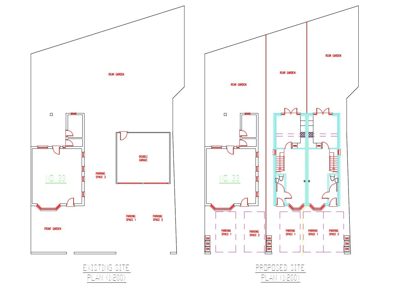 Floorplans For PLANNING GRANTED - 2 X 2 BED HOUSES