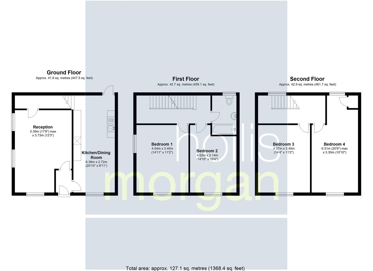 Floorplans For PERIOD TOWNHOUSE FOR UPDATING / HMO / FLATS