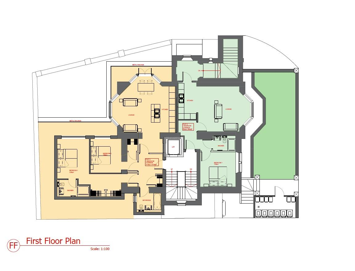 Floorplans For PLANNING GRANTED 6 FLATS - GDV £2.27M