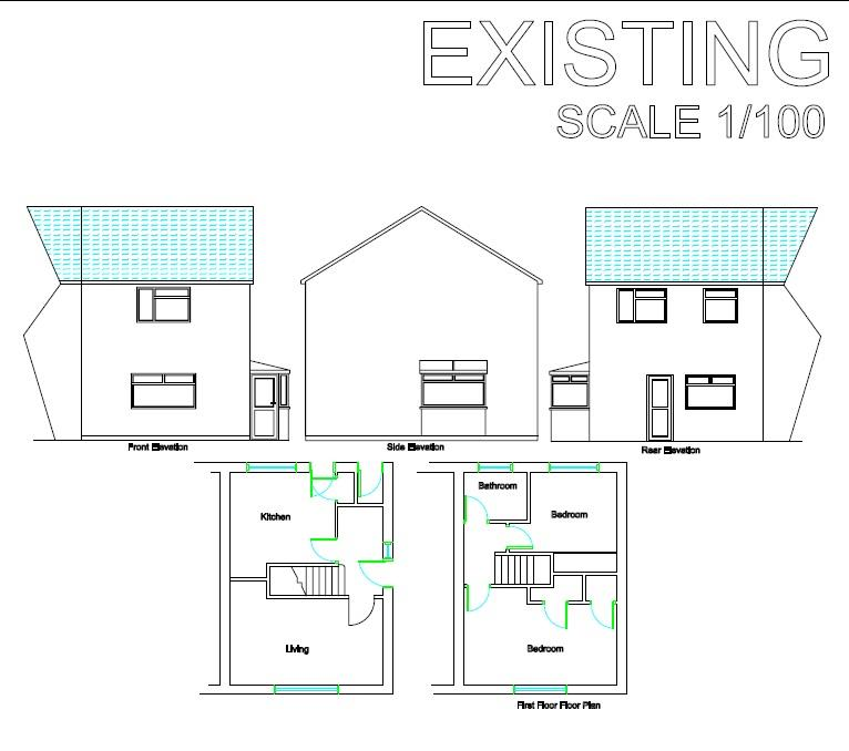 Floorplans For HOUSE + 2 PLOTS - WITHYWOOD