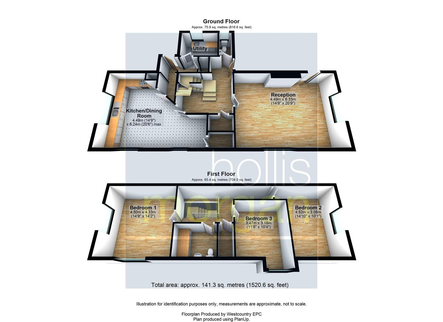 Floorplans For DETACHED HOUSE - CENTRAL WRINGTON LOCATION