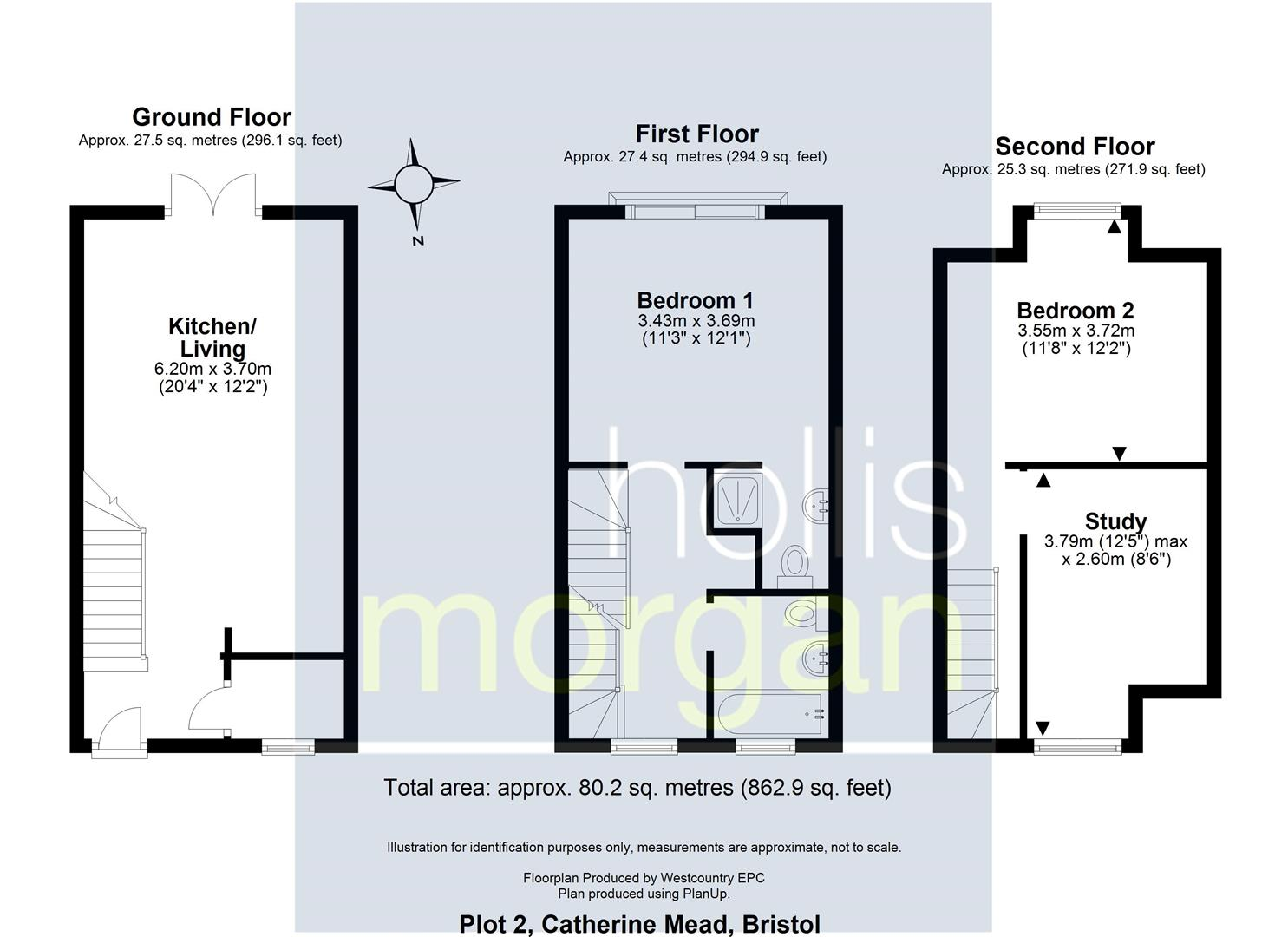 Floorplans For Catherine Mead Mews, Bedminster