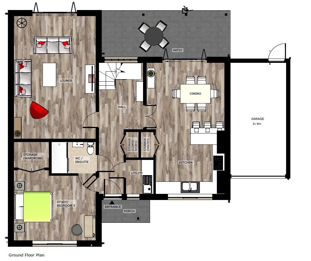 Floorplans For PLANNING GRANTED - 5 BED DETACHED HOUSE