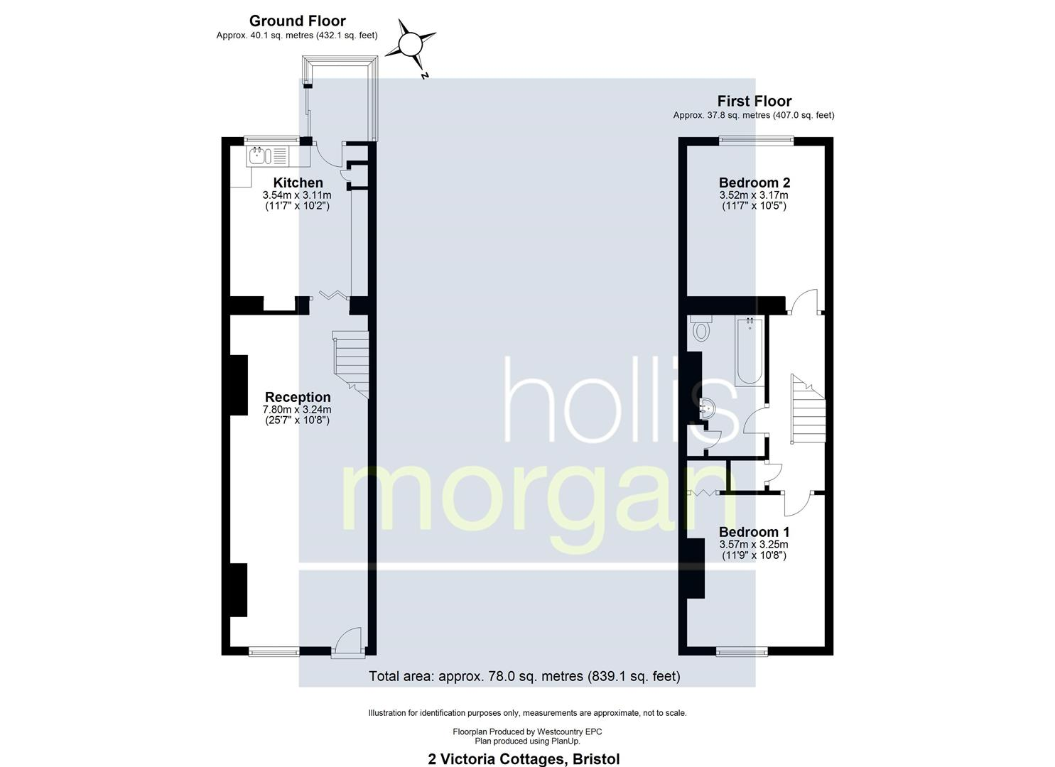 Floorplans For COTTAGE FOR UPDATING - LARGE GARDEN & VIEWS