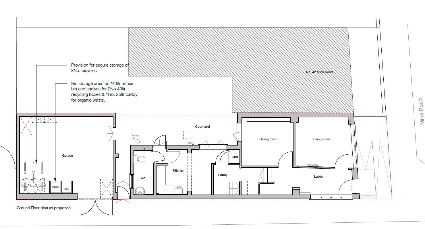 Floorplans For HOUSE FOR UPDATING AND EXTENSION - ST WERBURGHS