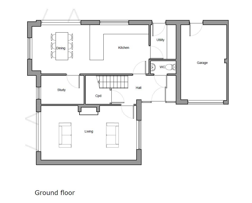 Floorplans For 0.75 ACRE PLOT - PLANNING GRANTED