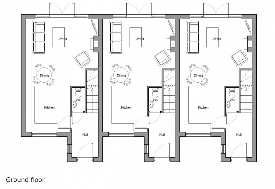 Images for PLANNING GRATED - 3 TOWNHOUSES EAID:hollismoapi BID:11